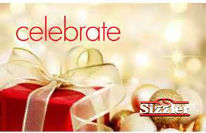 Sizzler Gift Card - sizzler s quot the gift of sizzler quot sweepstakes win a 25 sizzler gift card
