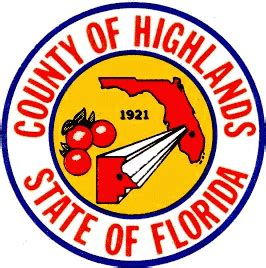 Highlands County Florida Records File Seal Of Highlands County Florida Png Facts For Kidzsearch