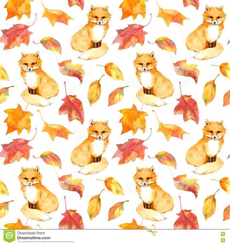 autumn pattern tumblr autumn pattern cute fox animal red leaves seamless