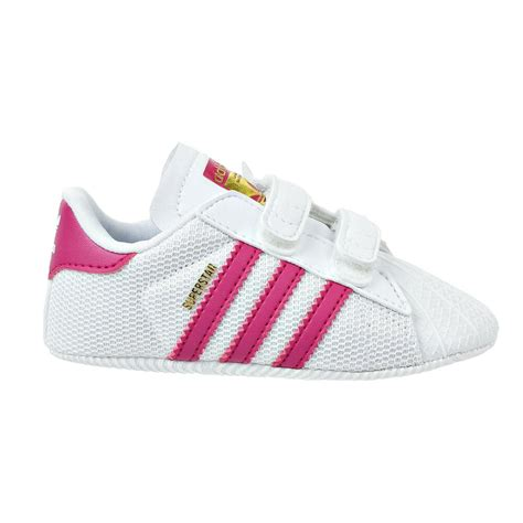 adidas originals superstar infant shoes whitebold pink