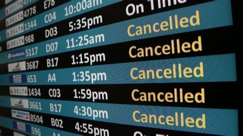 715 Flight Cancelled, 1,800 Delayed on Monday Due to Poor