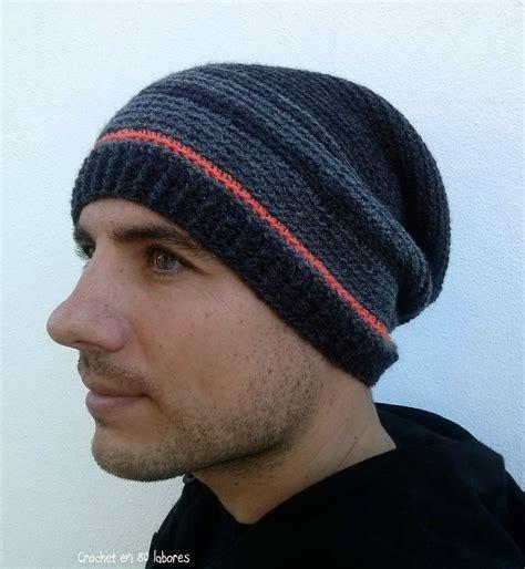 gorros con la tablita crochet en 80 labores slouchy beanie de crochet para hombre