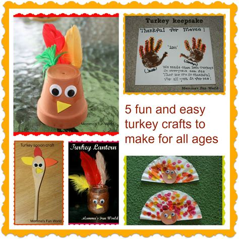 simple crafts for ages 3 5 momma s world turkey crafts for all ages