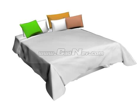 comfy bed pillows comfy bed and pillows 3d model 3ds max 3ds files free