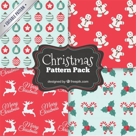 ai pattern pack christmas pattern pack vector free download