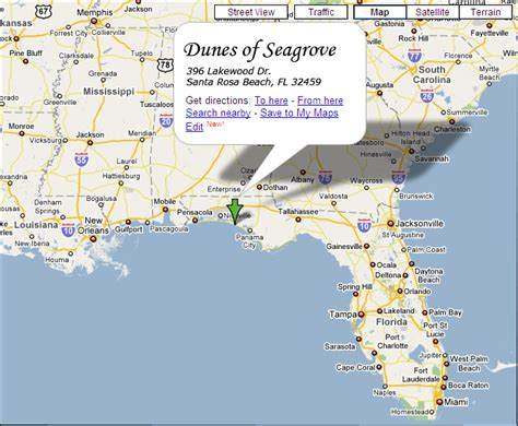 Pensacola Florida Vacation Home Rentals - directions map dunes of seagrove south walton fl dunes of seagrove santa rosa beach fl