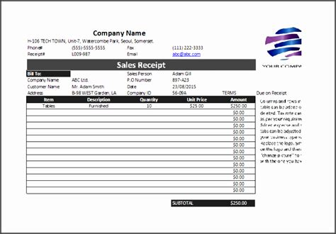 Professional Business Receipts Templates by 5 Professional Sales Receipt Template Sletemplatess