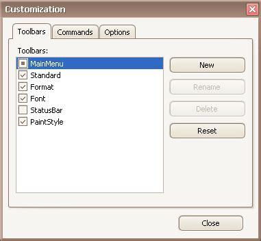 devexpress layout view hide caption open toolbar customization window devexpress end user