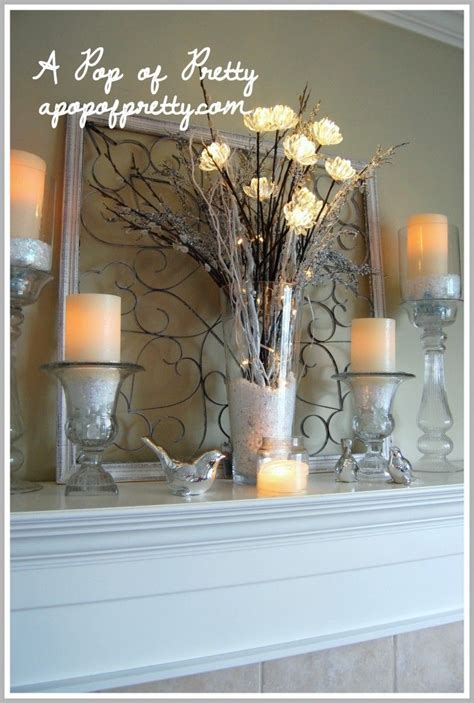 winter mantel decorating ideas winter mantle mantles