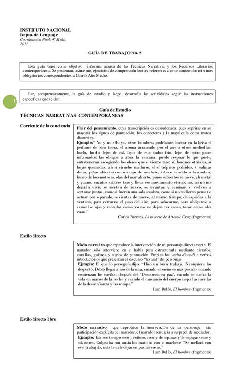 Ejemplos tecnicas recursos narrativos_4°