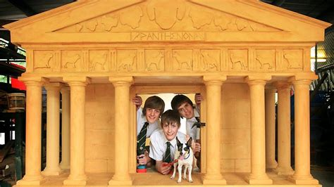 dog house perth students create dog house resembling pantheon for charity perth now