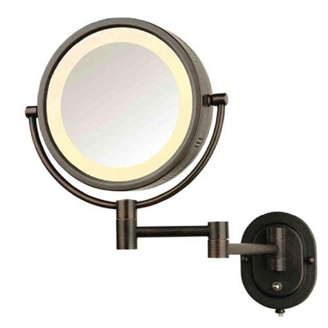Makeup Mirror With Light by Halo Swinging Lighted Vanity Mirror Bathroom