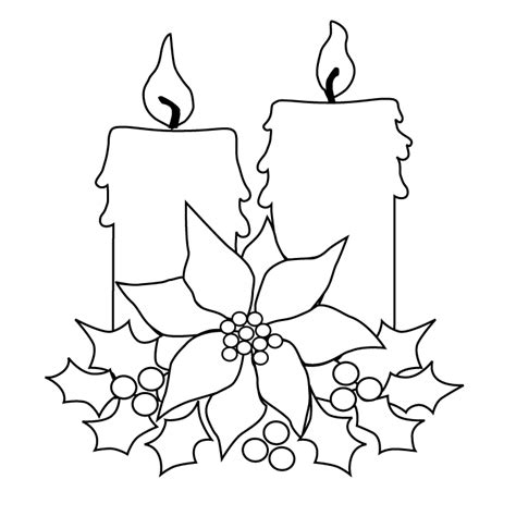 christmas candles picture christmas candles coloring page