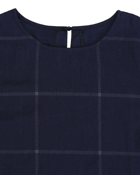 Dress Pakaian Terusan Panjang Wanita Retro Pattern M 333445 zanzea vintage wanita memeriksa kotak kotak lengan baju