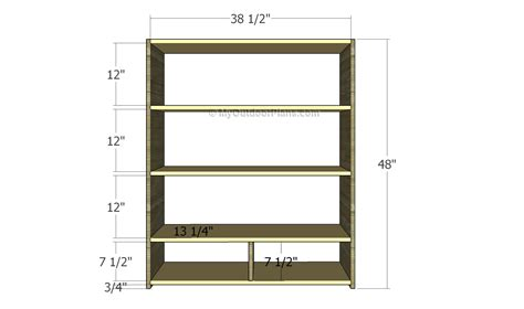 simple wooden bookshelf plans woodworking plans