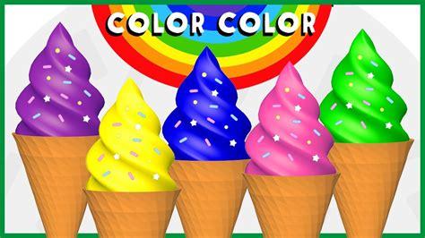 color con i color color 3 helados de colores a jugar