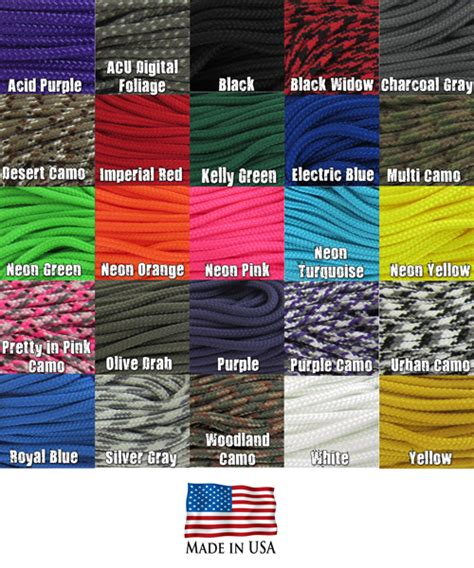 paracord strength chart new 425 tactical cord 3mm parachute cord diy craft