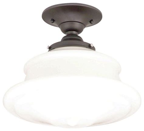Schoolhouse Ceiling Lights Schoolhouse Button 12 3 4 Wide Bronze Ceiling Light