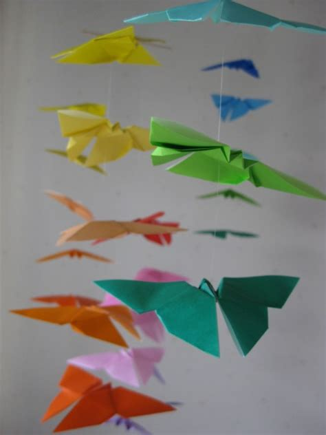 origami butterfly mobile 34 large origami butterflies mobile rainbow color 34