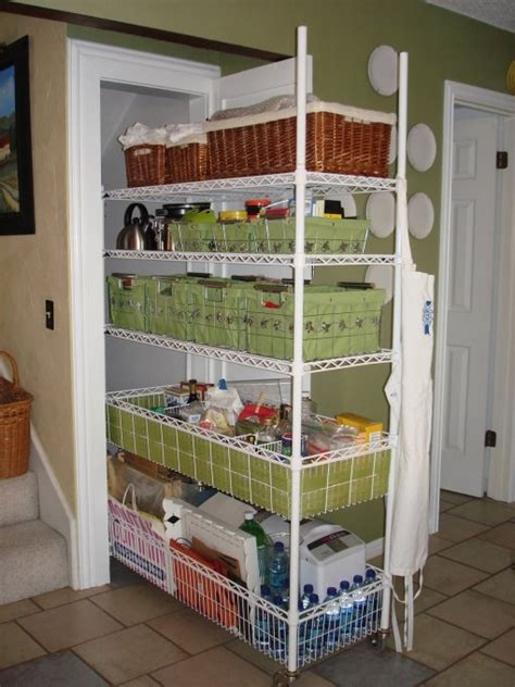 Narrow Pantry Door Organizer by Hide Away Pantry For Additional Kitchen Storage
