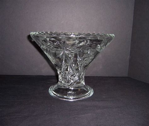 Footed Glass Vase by A Resale Anchor Footed Glass Vase