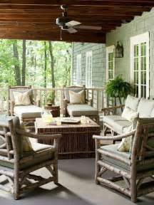 Deck Furniture Ideas by 57 Cozy Rustic Patio Designs Digsdigs