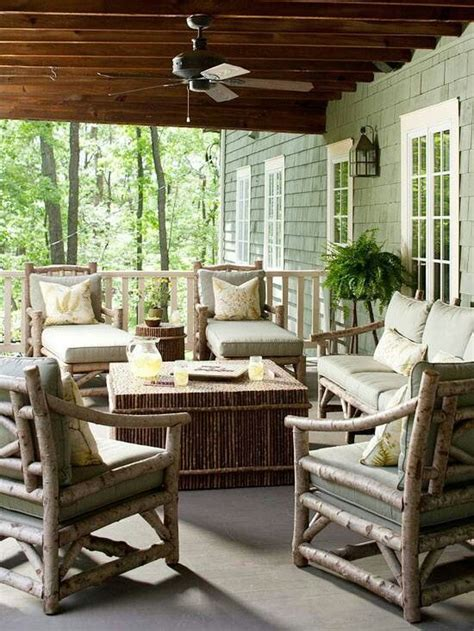 i love this deck furniture layout so cozy outside home ideas 57 cozy rustic patio designs digsdigs