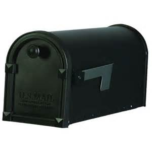 home depot mailbox gibraltar mailboxes trenton steel black post mount mailbox