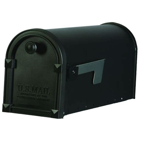gibraltar mailboxes trenton steel black post mount mailbox