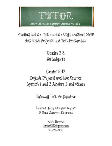 tutoring flyer template 13 best images about tutoring on
