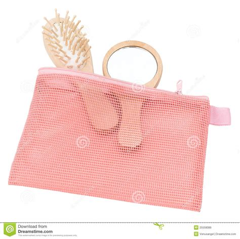 These Terry Cloth Toiletry Bags Make Packing Up The Bathroom by Pink Mesh Cosmetic Bag Royalty Free Stock Images Image