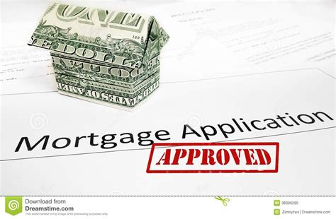 house loan approval mortgage app approval stock image image of cash approved 36090295