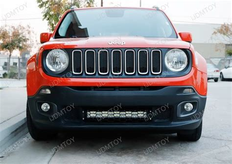 jeep renegade lights 20 quot 120w high power led light bar kit for 2015 up jeep