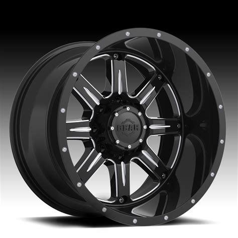 big alloy wheels gear alloy 726bm big block gloss black milled custom
