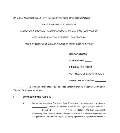 8 secured promissory note free sle exle format