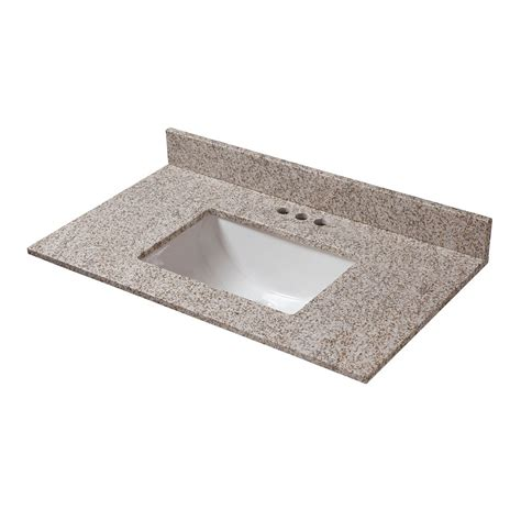 25 X 19 Granite Vanity Top glacier bay golden hill 25 inch w x 19 inch d granite