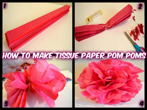 How To Make Pom Poms From Tissue Paper - how to make tissue paper pom poms and easy