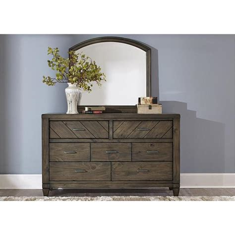 833 br31 liberty furniture modern country 7 drawer dresser