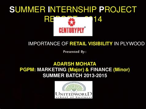 Diageo Summer Internship Mba Strategy by Importance Of Retail Visibility In Plywood Category