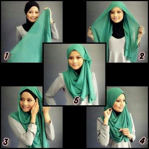 tutorial hijab simple sehari2 hijab tutorial hijab pinterest simple hijab tutorial