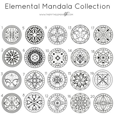 mandala design with meaning elemental mandala collection close your eyes for 3
