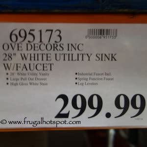 Ove Decors Inc by Costco Ove 28 Quot Utility Sink Cabinet Frugal Hotspot