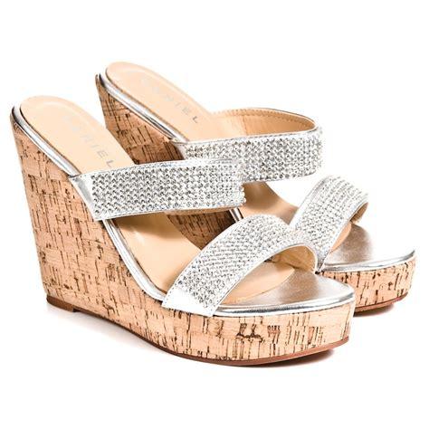 silver sandal wedges daniel silver howell womens wedge sandal daniel from