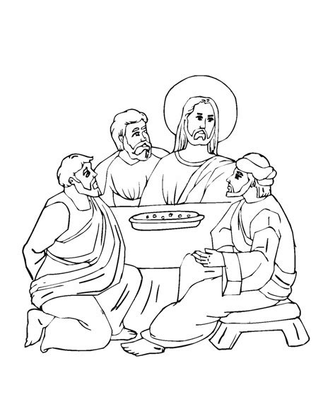 free jesus and last supper coloring pages