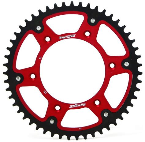 2t motocross gear supersprox rear stealth sprocket red 49t beta rr 2t