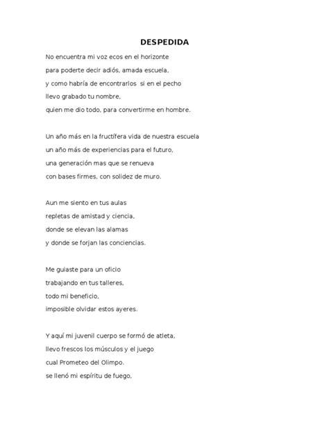 un poema de despedida de la escuela apexwallpaperscom poesias tercer grado