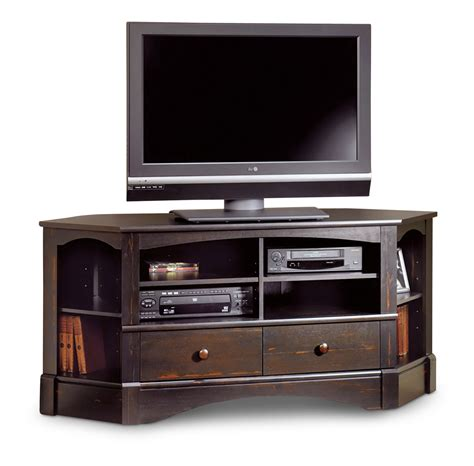 Tv Console Table Furniture Wood Corner Console Table Tv Stand With Media Cabinet Pretty Corner Console
