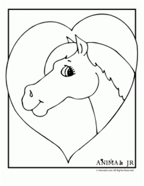 horse valentine coloring page horse coloring pages animal jr