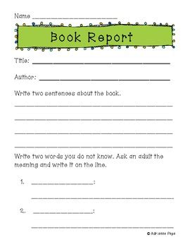 primary book report primary book report forms by adrienne jackson teachers