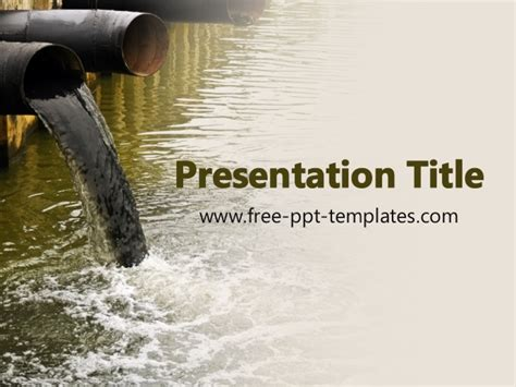 Ppt Templates For Water Pollution   water pollution ppt template